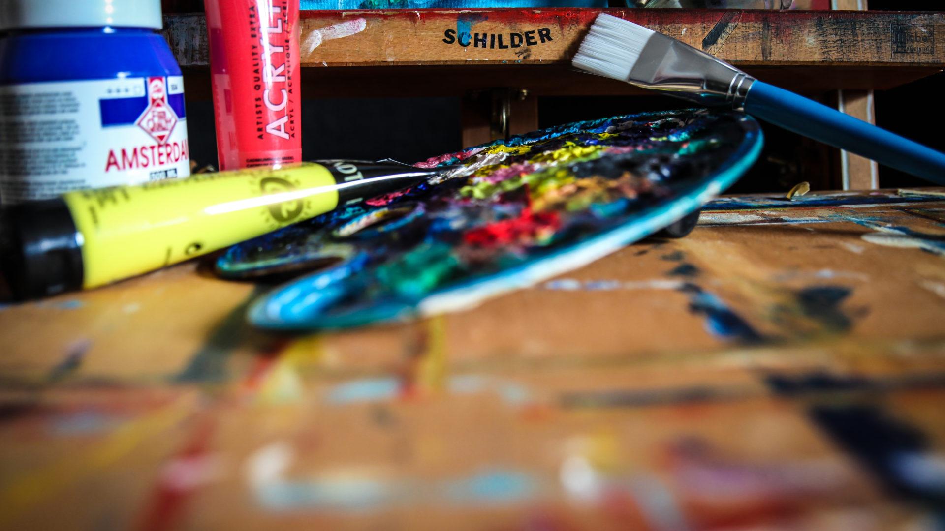 Expressief schilderen - De Meerpaal, Dronten